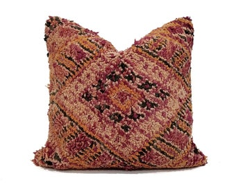"""20"""" vintage Moroccan rug pillow cover"""