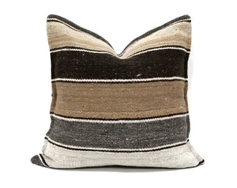 "18.5"" wool stripe pillow cover"