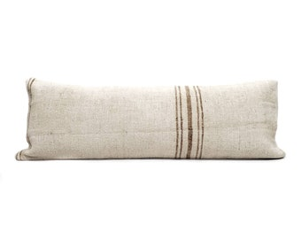 "13""×36"" Turkish hemp kilim bed pillow cover"