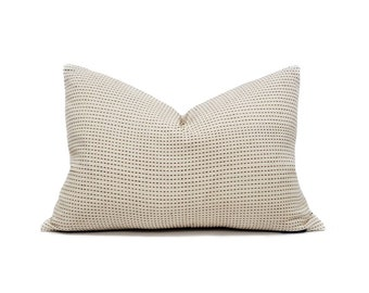 Various lumbar sizes muted terra cotta embroidered pillow cover