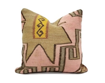 "16"" Turkish kilim pillow"