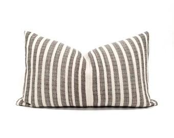 "12""×20"" Asian textile cotton stripe pillow cover"