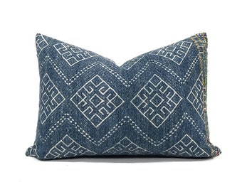 "12.5""×17"" Teal blue Chinese wedding blanket pillow cover"