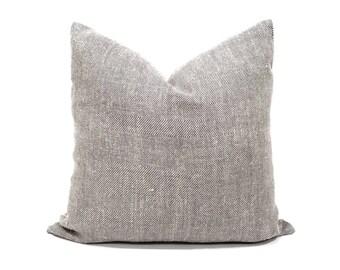 """20"""" herringbone pattern linen pillow cover"""