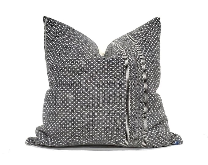 """Featured listing image: RESERVED, 20"""" grey Chinese wedding blanket pillow cover"""