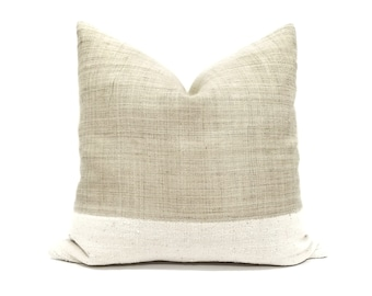 """20"""" flax hemp linen+ mudcloth pillow cover"""