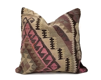 "18"" Turkish kilim pillow"