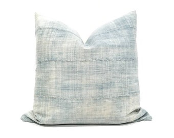 "18"" light indigo pillow cover"