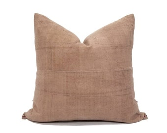 "18.5"" light brownish rose/nude hemp hmong pillow cover"