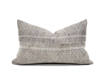 "12""×20"" grey Chinese wedding blanket pillow cover"