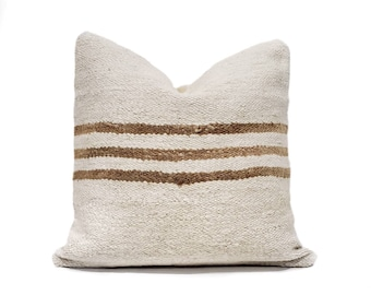 "18"" Turkish hemp kilim pillow cover"