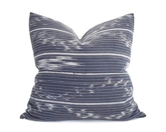"""20""""& 22"""" navy African fine weave ikat pillow cover"""