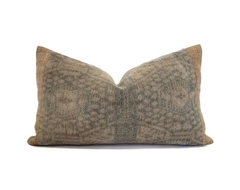 """12""""×20"""" Chinese ikat pillow cover"""