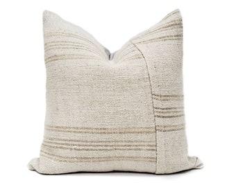 "22"" Turkish hemp kilim rug pillow cover"