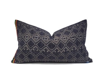 """12""""x20"""" black Chinese wedding blanket pillow cover"""