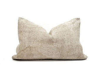 """16""""×24"""" beige Turkish rug pillow cover"""