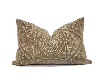 """13""""×20"""" brown Chinese batik pillow cover"""