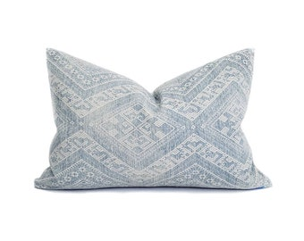 """13.5""""×20"""" faded blue Chinese wedding blanket pillow cover"""
