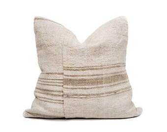 """22"""" Turkish hemp rug pillow cover"""