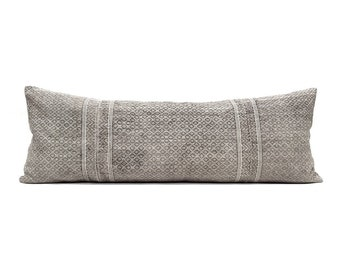 """13""""×35"""" grey Chinese wedding blanket bed pillow cover"""