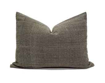 Cotton stripe Asian textile pillow in various sizes