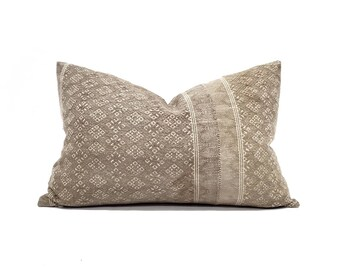 """12.75""""×20"""" light muted camel Chinese wedding blanket pillow cover"""