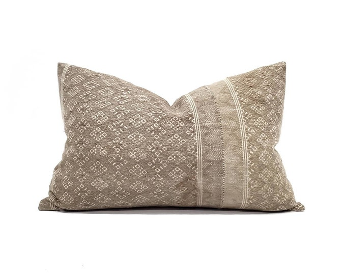 """Featured listing image: 12.75""""×20"""" light muted camel Chinese wedding blanket pillow cover"""