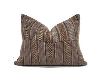"15""×19"" heavyweight hemp stripe  Chinese wedding blanket pillow cover"