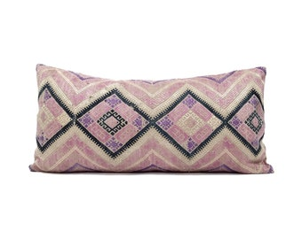 """12""""x24.25"""" pink Chinese wedding blanket pillow cover"""