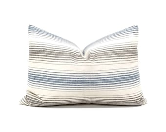 "15""×22"" Indonesian cotton stripe pillow cover"
