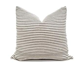 Various sizesbrown stripe Asian textile cotton pillow cover