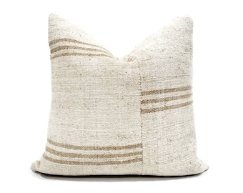 "20"" Turkish hemp kilim pillow cover"