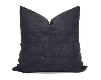 Various sizes black hemp linen Hmong pillow cover