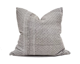 """22"""" grey Chinese wedding blanket pillow cover"""