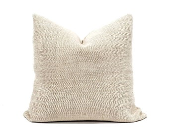 "22"" herringbone grainsack pillow cover"