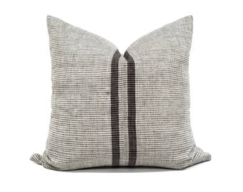 "21.75"" Indonesian cotton stripe pillow cover"