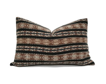 """12.5""""×19.5"""" ikat pillow cover"""