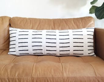 """13""""×35"""" Mudcloth bed pillow cover"""