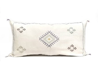 "Giant king size 20""x 37"" Moroccan cactus silk sabra pillow"