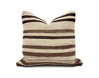 "16"" Turkish kilim rug pillow cover"