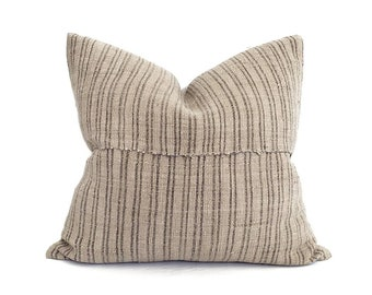 "19""×20"" muted khaki fireweed Chinese hemp linen pillow cover"