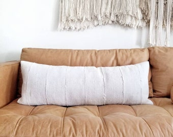 "13""×35"" mudcloth XL bed pillow"