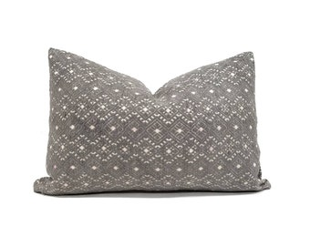 "12.5""×19"" grey Chinese wedding blanket pillow cover"