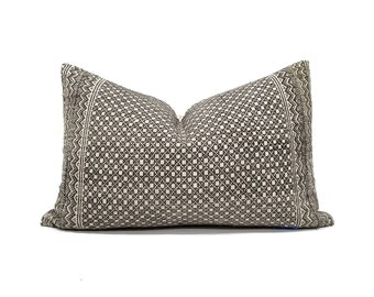 """12.75""""×20"""" muted brown Chinese wedding blanket pillow cover"""