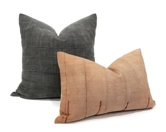 """13""""×19.5"""" dusty salmon hmong pillow cover"""