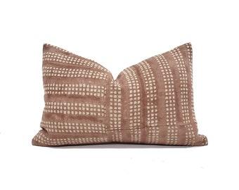 Terra cotta flax linen pillow cover