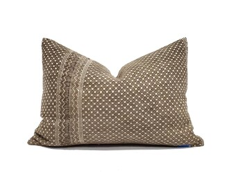 """13""""×19"""" brown Chinese wedding blanket pillow cover"""