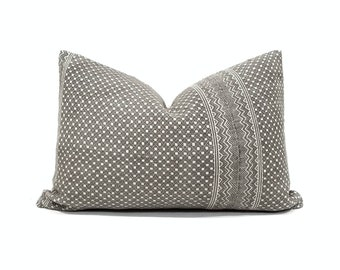 Various lumbar sizes dark greyish muted brown Chinese wedding blanket pillow cover