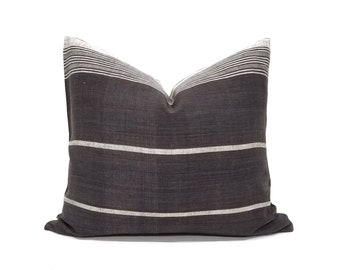 "17""×20"" Indonesian cotton stripe pillow cover"