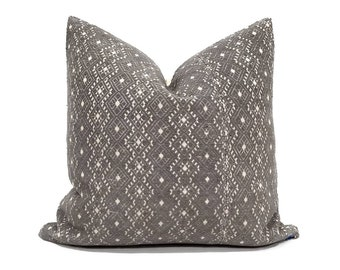 "19"" grey Chinese wedding blanket pillow cover"
